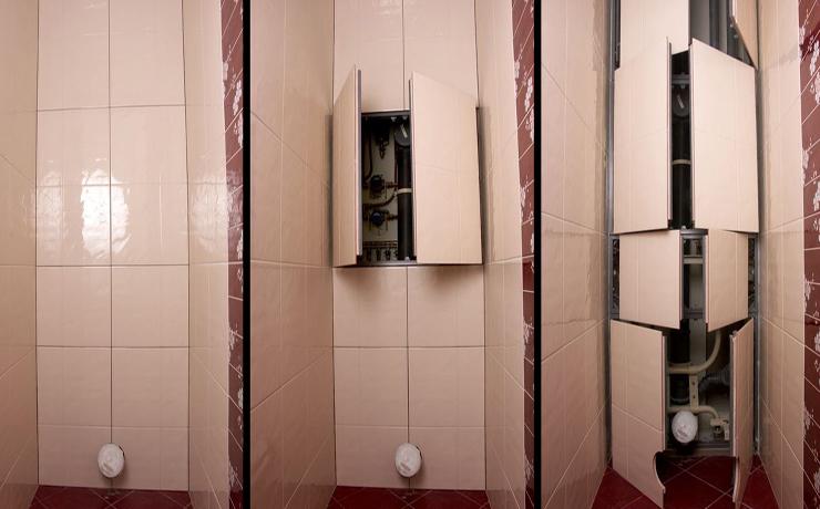 Смотровой люк в ванной под плитку - виды и выбор лючка.